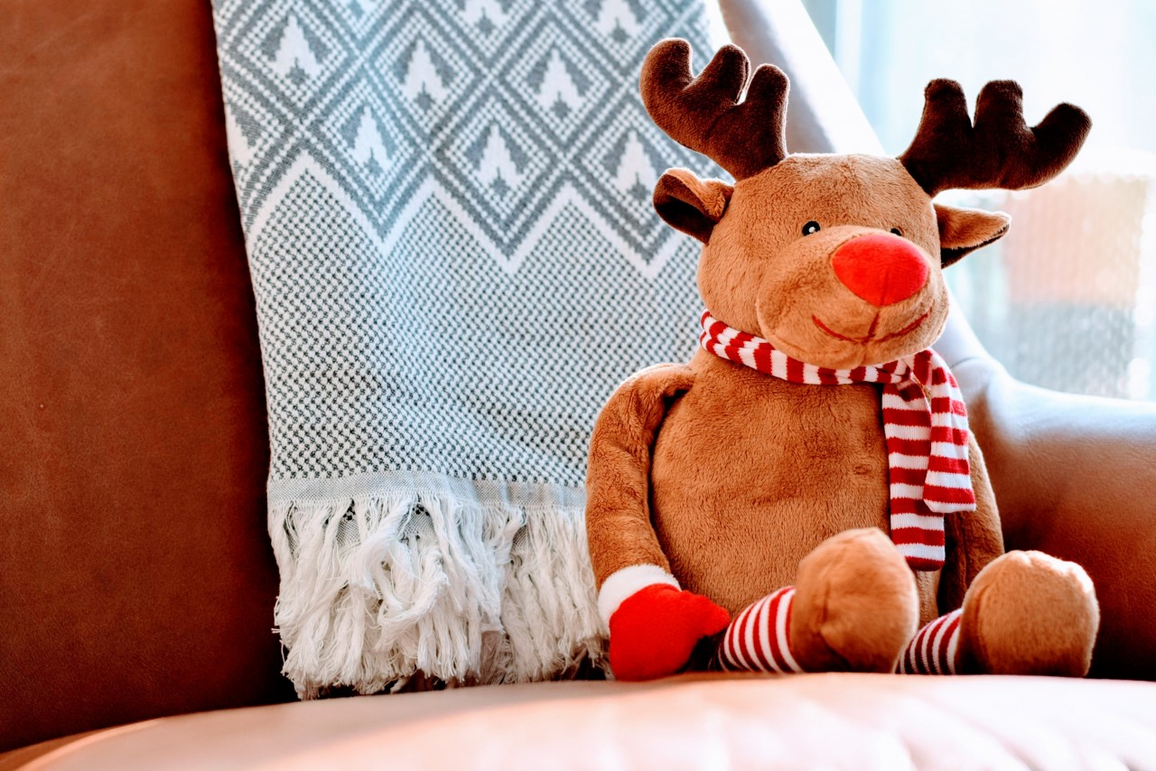 Image of toy reindeer sitting down