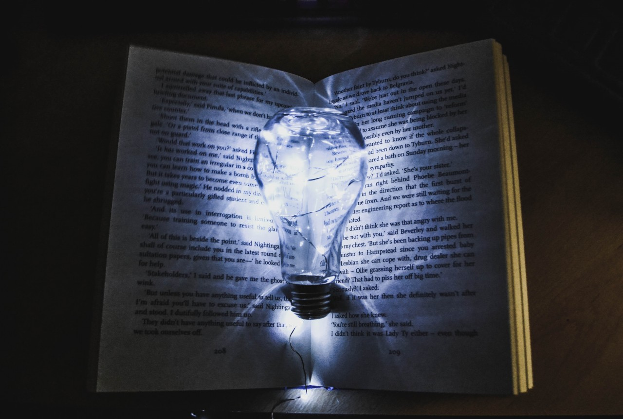 lightbulb on page